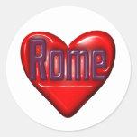 I Love Rome Round Stickers