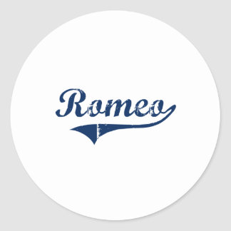 I Love Romeo Michigan Classic Round Sticker