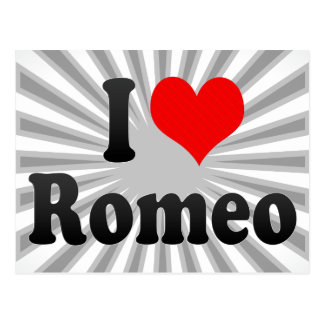 I love Romeo Postcard