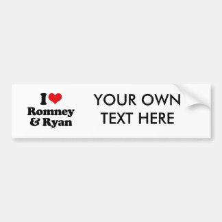 I LOVE ROMNEY AND RYAN.png Bumper Stickers