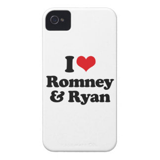 I LOVE ROMNEY AND RYAN.png iPhone 4 Cover
