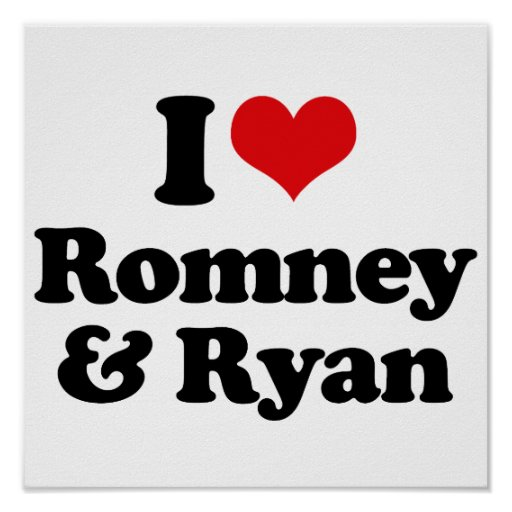 I LOVE ROMNEY AND RYAN.png Poster