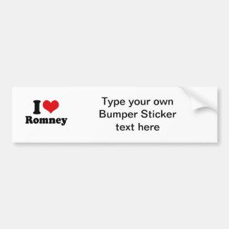 I LOVE ROMNEY BUMPER STICKER