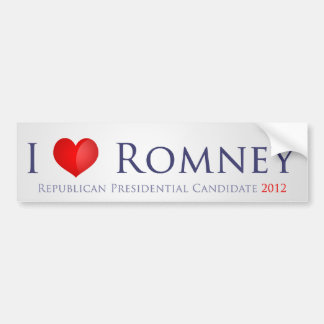 I love Romney Car Bumper Sticker