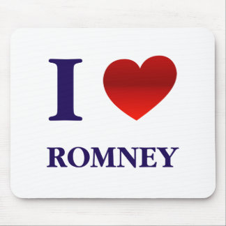 I Love Romney Mouse Pad