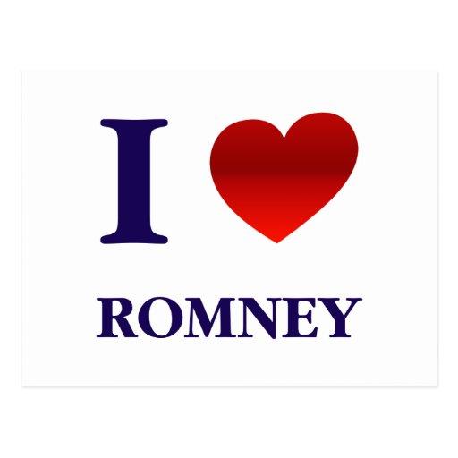 I Love Romney Postcard