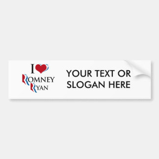I LOVE ROMNEY RYAN.png Bumper Sticker