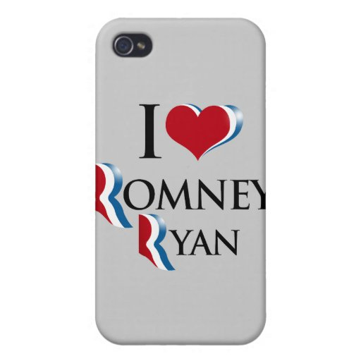 I LOVE ROMNEY RYAN.png Cover For iPhone 4
