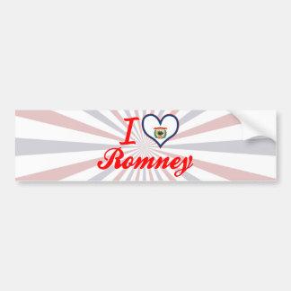 I Love Romney, West Virginia Bumper Sticker