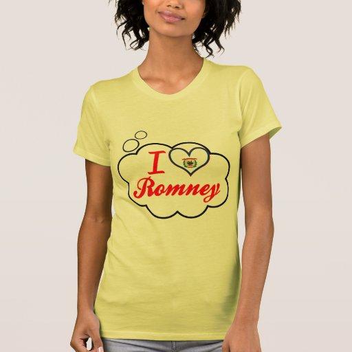 I Love Romney, West Virginia Tee Shirts