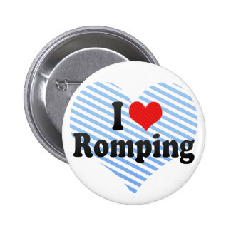 I Love Romping Buttons