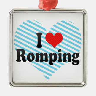 I Love Romping Christmas Ornament