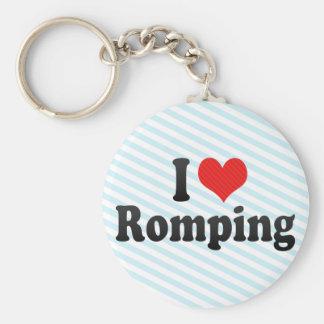 I Love Romping Key Chains