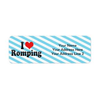 I Love Romping Return Address Labels
