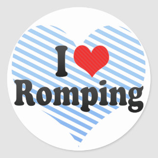 I Love Romping Stickers