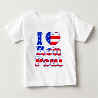 I Love Ron Paul Baby T-Shirt