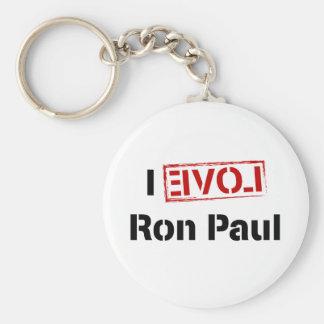 I Love Ron Paul Basic Round Button Keychain