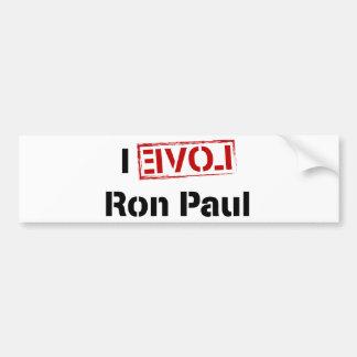 I Love Ron Paul Car Bumper Sticker