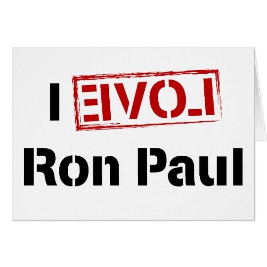 I Love Ron Paul Card