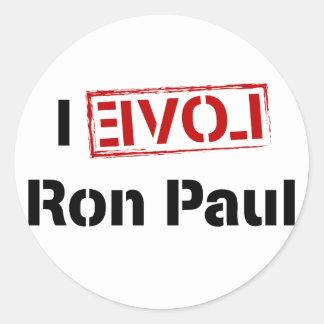 I Love Ron Paul Classic Round Sticker