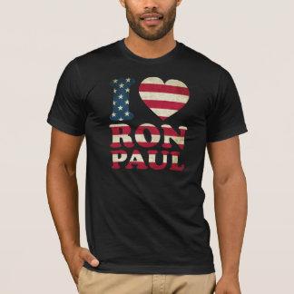 I Love Ron Paul Flag T-Shirt