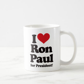 I Love Ron Paul for President Coffee Mug