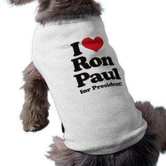 I Love Ron Paul for President Tee