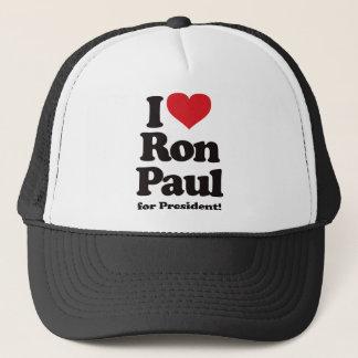 I Love Ron Paul for President Trucker Hat