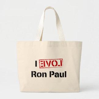 I Love Ron Paul Jumbo Tote Bag