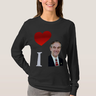 I Love Ron Paul Ladies Long Sleeve T-Shirt
