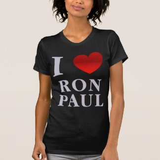 I Love Ron Paul Ladies Petite T-Shirt