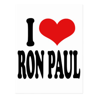 I Love Ron Paul Postcard