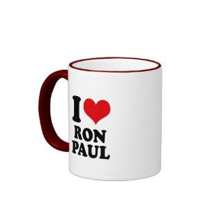 I LOVE RON PAUL RINGER MUG