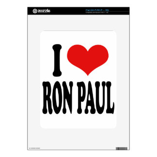 I Love Ron Paul Decal For The iPad