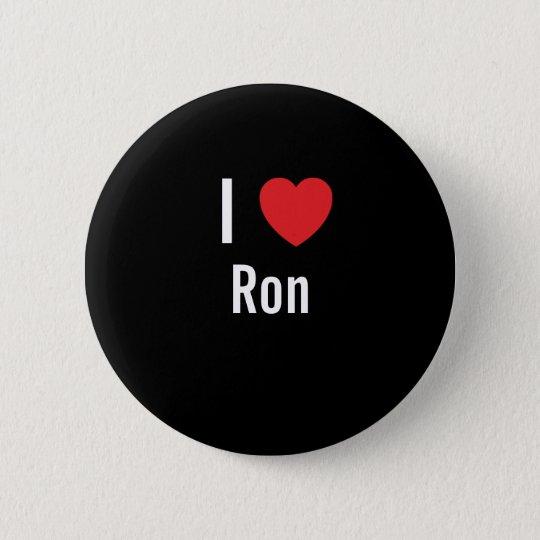 I love Ron Pinback Button