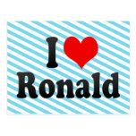I love Ronald Postcard