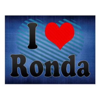 I Love Ronda, Spain Postcard