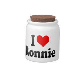 I love Ronnie Candy Jars