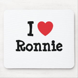 I love Ronnie heart custom personalized Mouse Pads