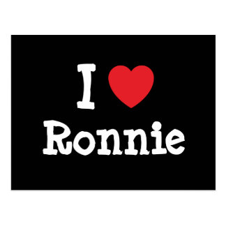 I love Ronnie heart custom personalized Postcards
