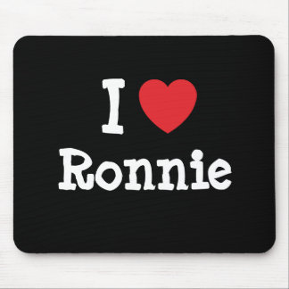 I love Ronnie heart T-Shirt Mouse Pad