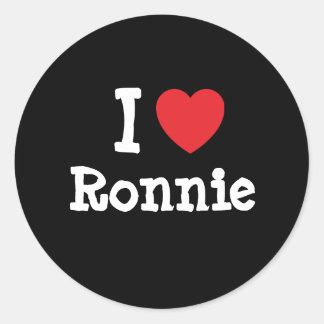 I love Ronnie heart T-Shirt Round Sticker