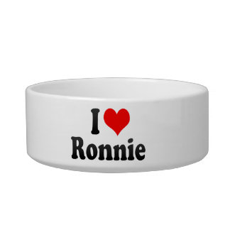 I love Ronnie Cat Water Bowl
