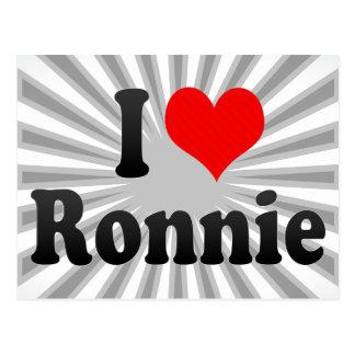 I love Ronnie Post Card