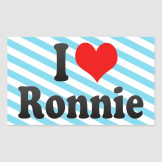 I love Ronnie Stickers