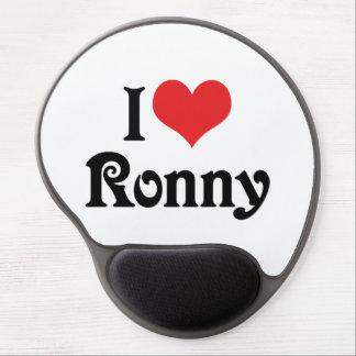 I Love Ronny Gel Mouse Pad