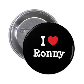 I love Ronny heart custom personalized Pinback Button