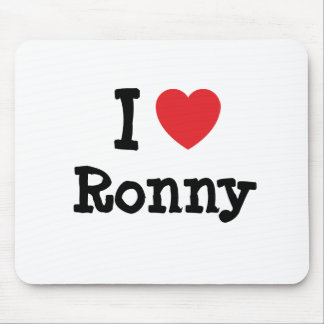 I love Ronny heart custom personalized Mouse Mat