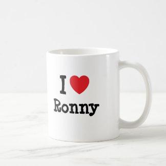 I love Ronny heart custom personalized Mugs