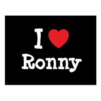 I love Ronny heart custom personalized Post Card